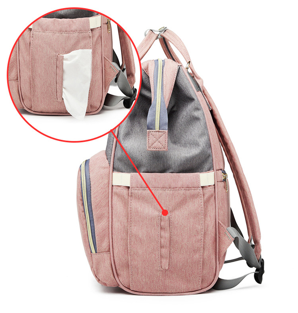 HTB1YeCDSHvpK1RjSZPiq6zmwXXak Nappy Backpack Bag Mummy Large Capacity Bag Baby Multi-function Waterproof Travel Diaper Bags For Baby Care Droshipping