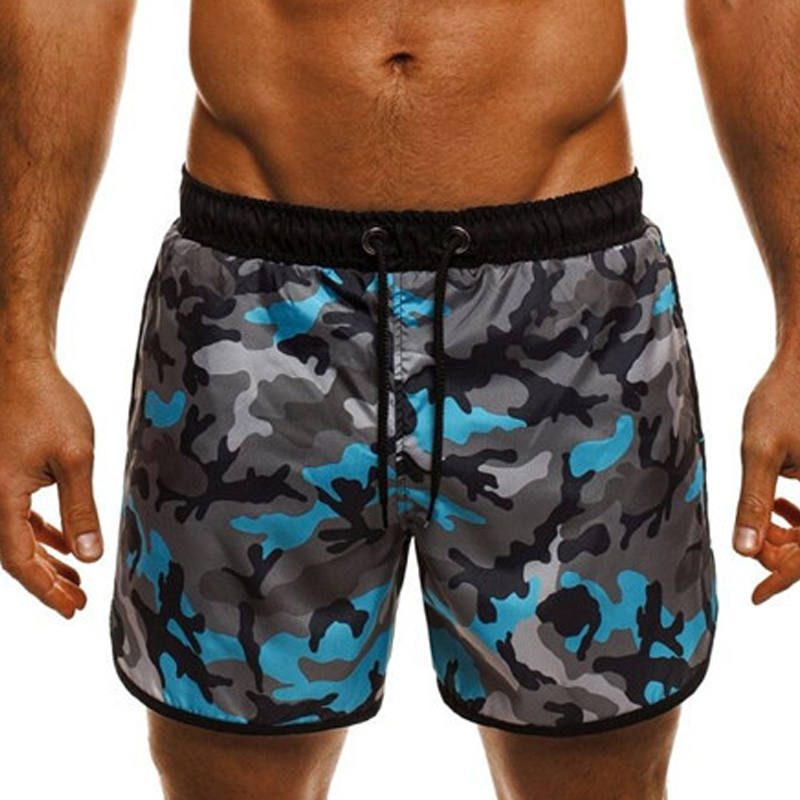 Casual Men's Shorts Elastic Waist Drawstring Camouflage Bodybuilding Shorts Men Joggers Workout Loose Quick Dry Bermuda 2018