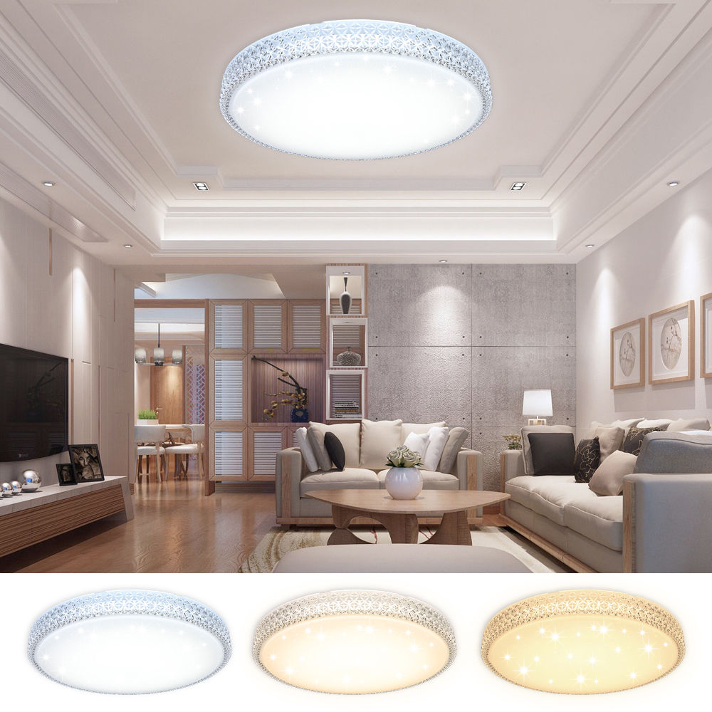 Modern LED Ceiling Lamp Farbwechsel 50W 60W Energy Save Starry Indoor Home Lighting Fixture Color Change Bedroom Kitchen FoyerModern LED Ceiling Lamp Farbwechsel 50W 60W Energy Save Starry Indoor Home Lighting Fixture Color Change Bedroom Kitchen Foyer