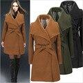 2016 outono e inverno vendendo velocidade através do novo revestimento do casaco de lã das mulheres Europeias e Americanas modelos ebay quente