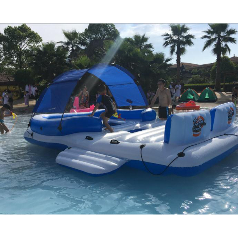 Grand Pour 8-10 personnes Poids 54 kg tapis flottant Air matterss Piscine Flotteur Piscine Jouets D'été Pool Party flotteurs de natation De Natation Jouets