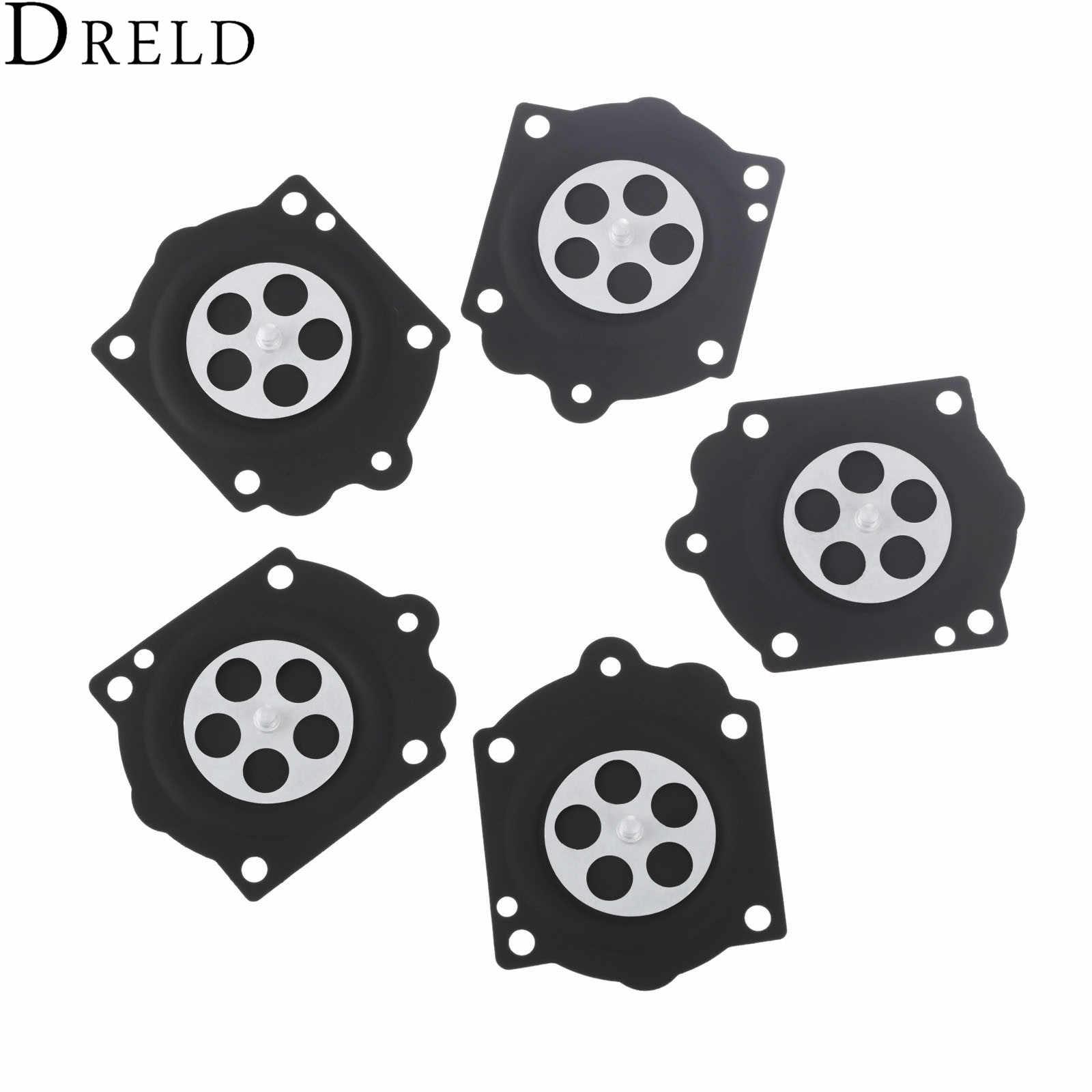 dreld 5pcs carburetor carb rebuild metering diaphragm kit for walbro hdb wg mcculloch pro mac 610 [ 1600 x 1600 Pixel ]
