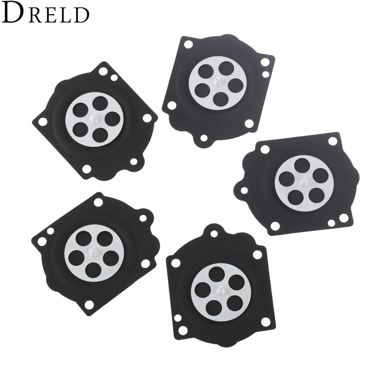 dreld 5pcs carburetor carb rebuild metering diaphragm kit for walbro hdb wg mcculloch pro mac 610 husq 272 ms660 chainsaw k15 wj [ 1600 x 1600 Pixel ]