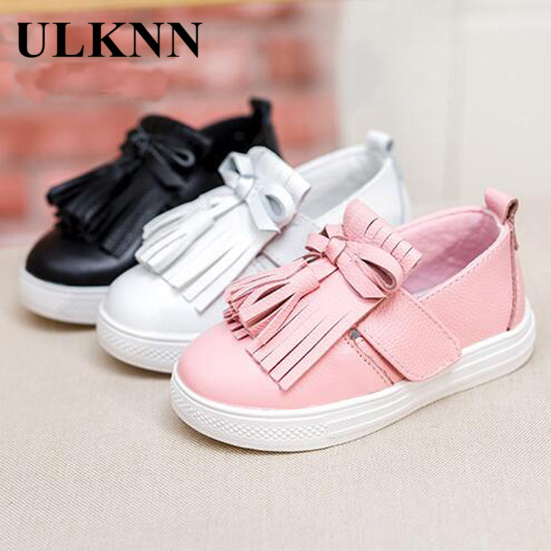 Leather Children's Shoes Princess Tassel Style Flat Shoes