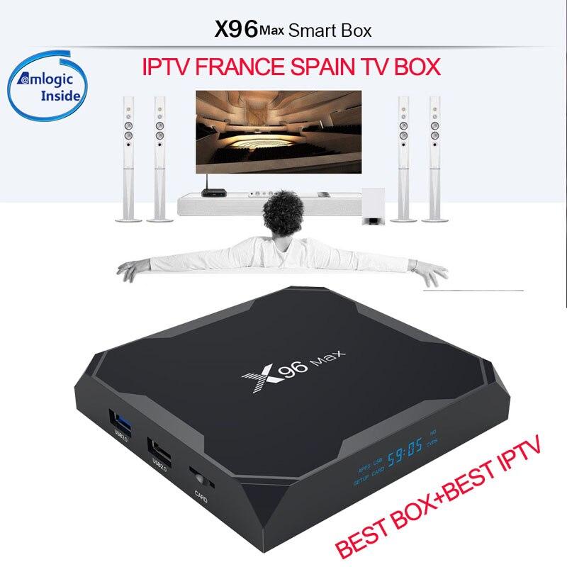 X96Max IPTV francais francese esap una Spagna Android 8.1 tv box 2 GB 4 GB DDR4 Ram 64 GB IPTV francia m3u spagnolo X96 max Media Player-in Set box TV da Elettronica di consumo su AliExpress - 11.11_Doppio 11Giorno dei single 1