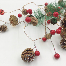 IP65 Christmas LED String Light Pine Cone Star Berry Fairy Holiday For Yard Garland Xmas Tree Decoration AA Battery Lamp