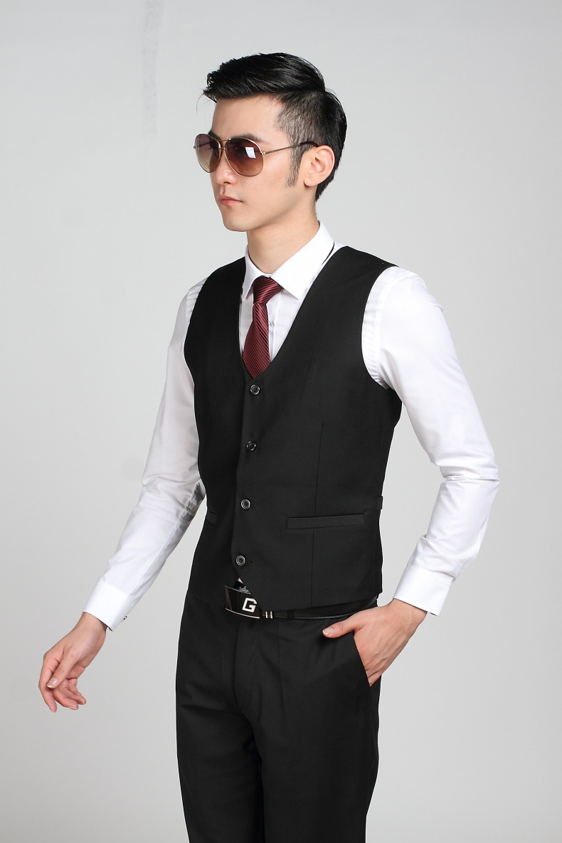 Aliexpress.com : Buy Hot Selling Business Formal Black Suit Vest ...
