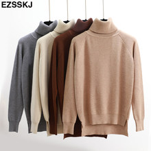 b88640e61 High Quality Turtleneck Sweater Women Winter thick Pullover Solid Knitted  Sweater Tops for Women Autumn Female
