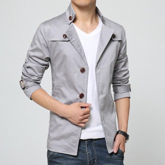 Новая Мода Горячая Продажа мужская большой размер Куртки хлопка короткий траншеи корея Повседневная пальто черный синий серый синий хаки пальто плюс размер 6XL