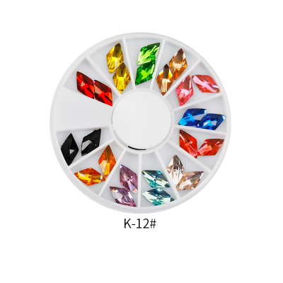 Lily Angel 12 Shiny Color Horse Eye Design Acrylic Wheel Glitter