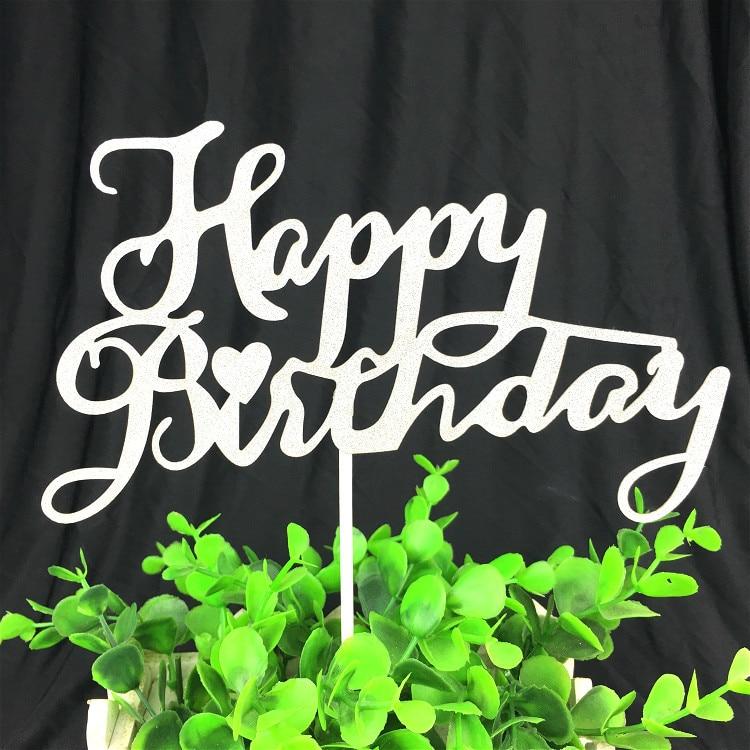 1pc Alles Gute zum Geburtstag Cake Topper Multi Farben Kuchen Flagge - Partyartikel und Dekoration - Foto 5