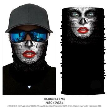3D Seamless Balaclava Cycle Magic Headband Jokers Skull Beard Mouth Bandana Mascarillas Neck Warmers Face Mask Bicycle Headscarf 1