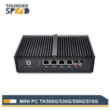 Fanless Dual Core 4 LAN Mini PC i5 5200U 5250U Windows 10 Micro PC Mini Computer PFsense 1 COM Dual WIFI Firewall Router