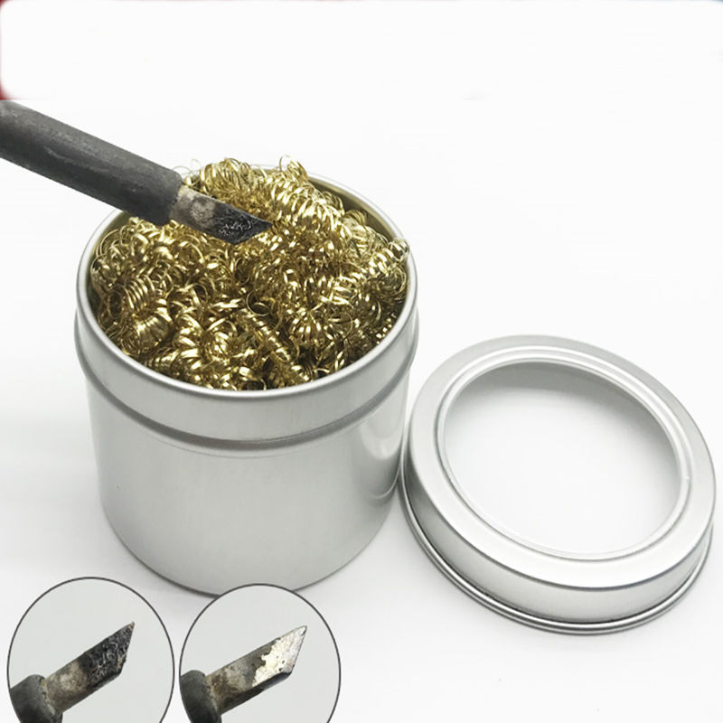 Welding Head Rapid Cleaning Ball Soldering Iron Tip Cleaner Soldering Holder Repair Tools With Brass Wire
