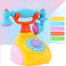 Musical Toys Childrens Phone Toy Simulation Retro Landline Baby Mobile For Children Singing