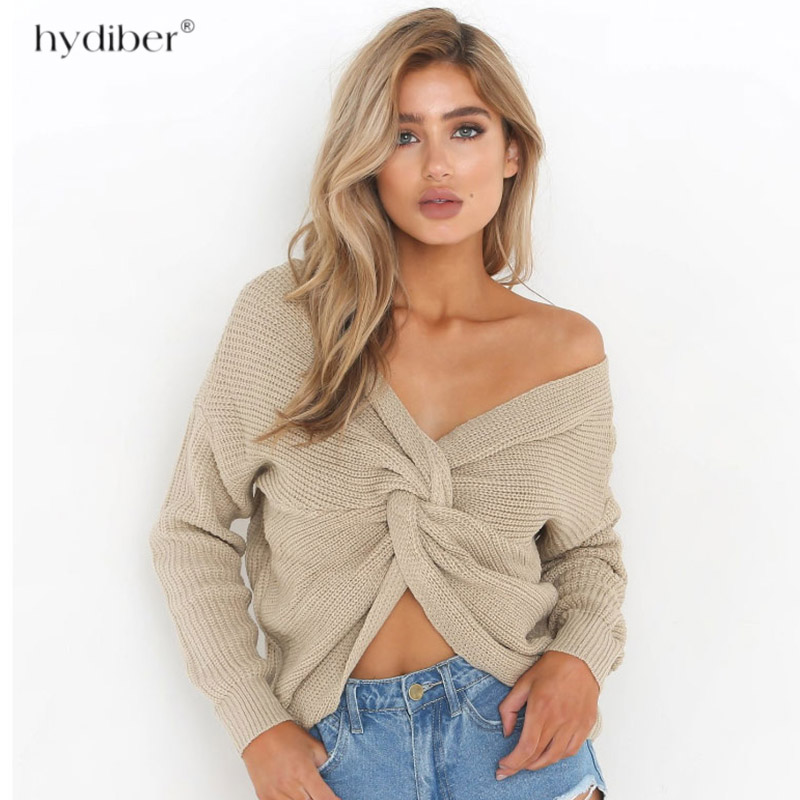 Sexy Autumn and Winter Women Basic Pullover Sweaters female slit neckline Strapless Sweater off shoulder top 2018