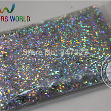 1,0 мм лазерный серебряный цвет блестящий порошок, голографический блеск для ногтей гель или другое украшение