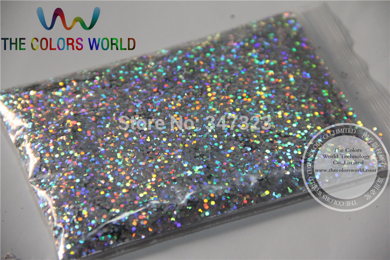 1.0MM Laser Silver Color Glitter Powder,holographic Glitter for nail gel or Other Decoration baseus b45 lightning to 3 5mm headphone jack adapter for iphone 7 7 plus