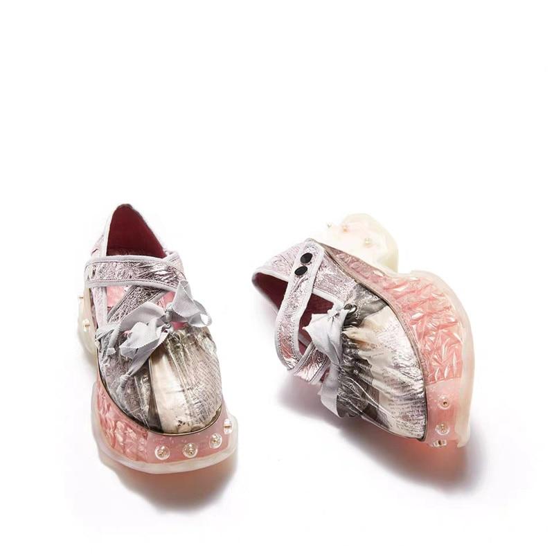 Calle Nette Mujer Zapatillas Casual Mode Purple Plattform Frauen 2019 Chunky Schuhe Mädchen Delivr Dicke Sohle Frühling Plataforma De qw4axAC