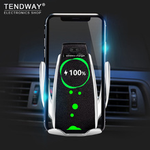 Qi Беспроводной Зарядное устройство кронштейн Смарт Автоматическая Индукции Стенд автомобилей Air Vent держатель телефона для iPhone XS XR X 8 samsung S9 S8 +