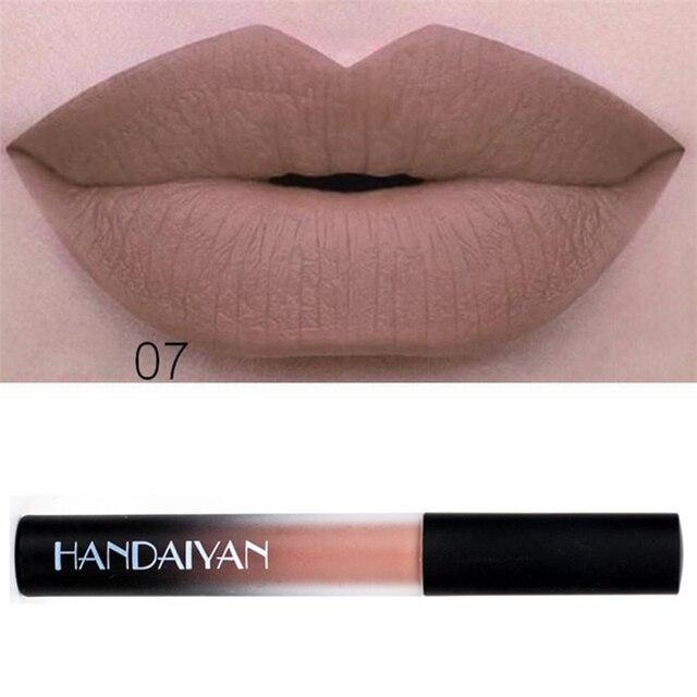 HANDAIYAN 1 PC de lápices labiales impermeable de larga duración terciopelo líquido mate lápiz labial maquillaje brillo de labios, maquiagem profissional