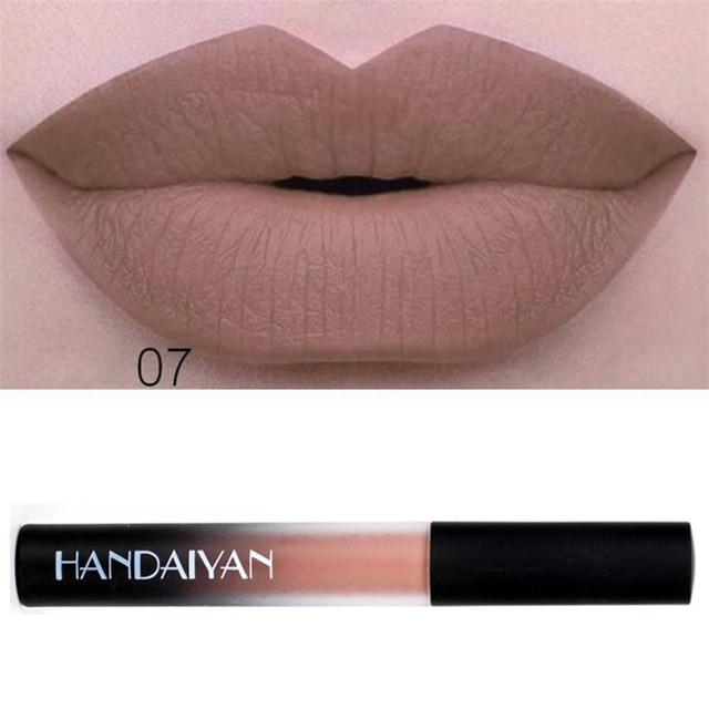 HANDAIYAN 1PC Velvet Lipsticks Waterproof Long Lasting Liquid Velvet Matte Lipstick Makeup Lip Gloss maquiagem profissional