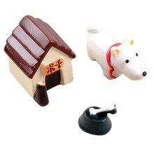 3 Pcs Fairy Garden Cute Mini Resin Model Dog World Ornaments