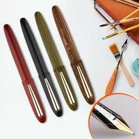 M6 Handmade Natural Wood Fountain Pen with Gift Box Full Wooden Beautiful Pen Iridic Fine 0.4 0.6mm Nib Fashion Writing Ink Pen