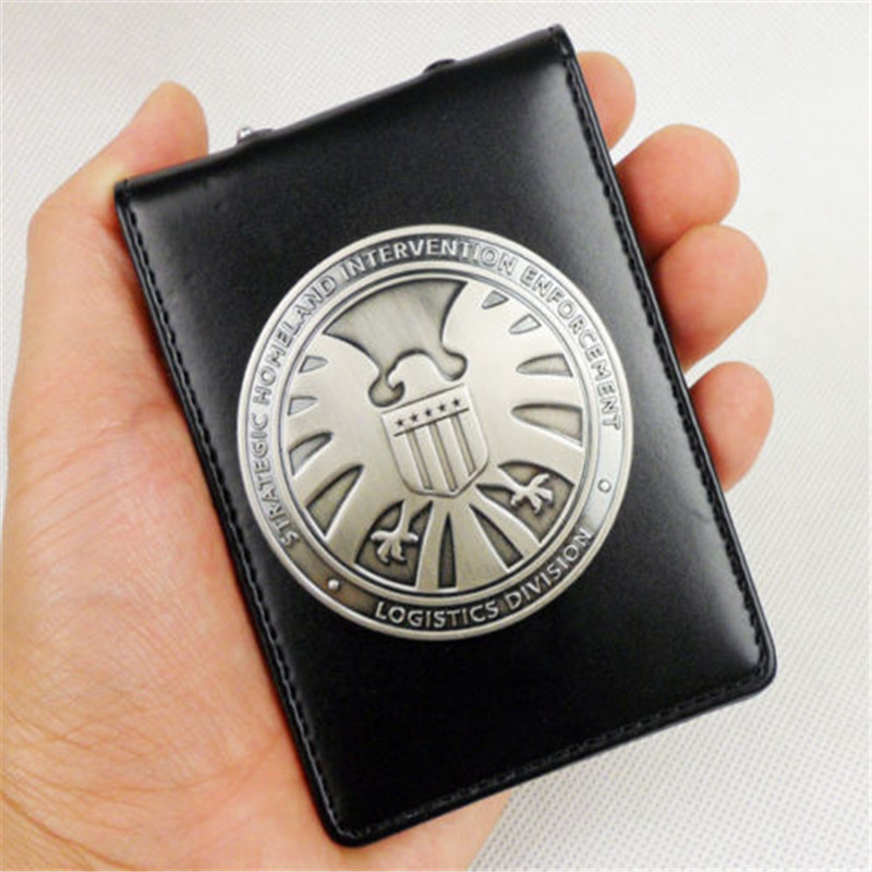Agents of Shield S.H.I.E.L.D. Metal SHIELD Badge Pin & ID Holder Wallet ...