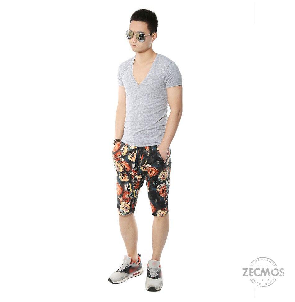 Zecmos Deep V Neck Sexy Men T-Shirt Vintage Short Sleeve Solid Color Muscle Fit T Shirt Men Top Tees Fashion 11