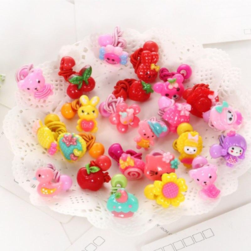 Cute Kids Cartoon Elastic Hair Bands Hair Accessories   Headwear   Flower Fruit Hairpins Clip Scrunchies Rubber for Girl   Headwear