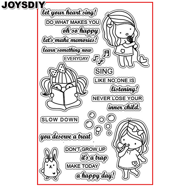 SING LIKE NO ONE IS LISTENING Scrapbook DIY photo cards account rubber stamp clear stamp transparent stamp Handmade card stamp