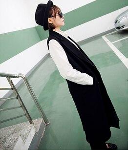 Poches Chalecos Costume Gilet Plus Mandarin Coréenne Solide Gilets 2018 Longue black Gray Manches Col 2xl Femelle Mujer Haut La Mode Taille Vente Blue Light Sans navy wzq8Xnx8I