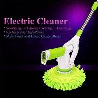 Escovas de limpeza elétricas automáticas purificador sem fio recarregável com 3 cabeças de escova substituíveis para casa toalete ferramentas do banheiro|Escovas de limpeza| |  -