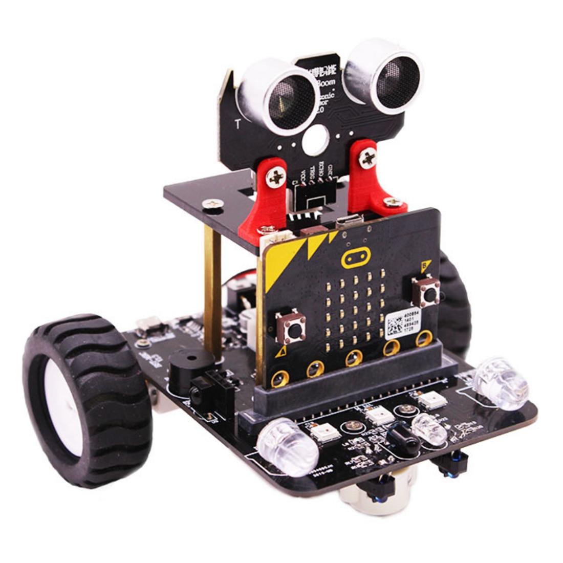 Графический программируемый робот-автомобиль с Bluetooth ИК и трекинговым модулем, паровой робот-игрушка для микро: бит Bbc - Цвет: Without Mainboard