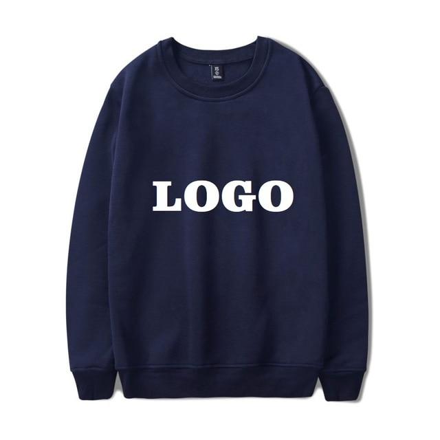 DropShipping DIY Custom Logo Pullover Hoodies Men Women Customize Streetwear Harajuku HIP HOP Long Sleeve Sweatshirt Sudadera