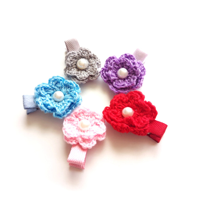 Adorable crochet flower hair clips back to school gift pink flower adorable crochet flower hair clips back to school gift pink flower girl barrette frosted grey floral mightylinksfo Choice Image