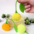 Hot sale cute Lemon Silicone Loose Tea Strainer Herbal Spice Infuser Filter Tools