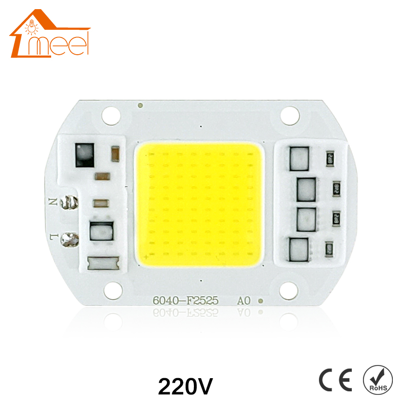 COB LED Lamp Chip 10W 15W 20W 30W 50W LED COB Bulb Lamp 220V IP65 Smart IC Driver Cold/ Warm White LED Spotlight Floodlight микросхема cm2801b led ic