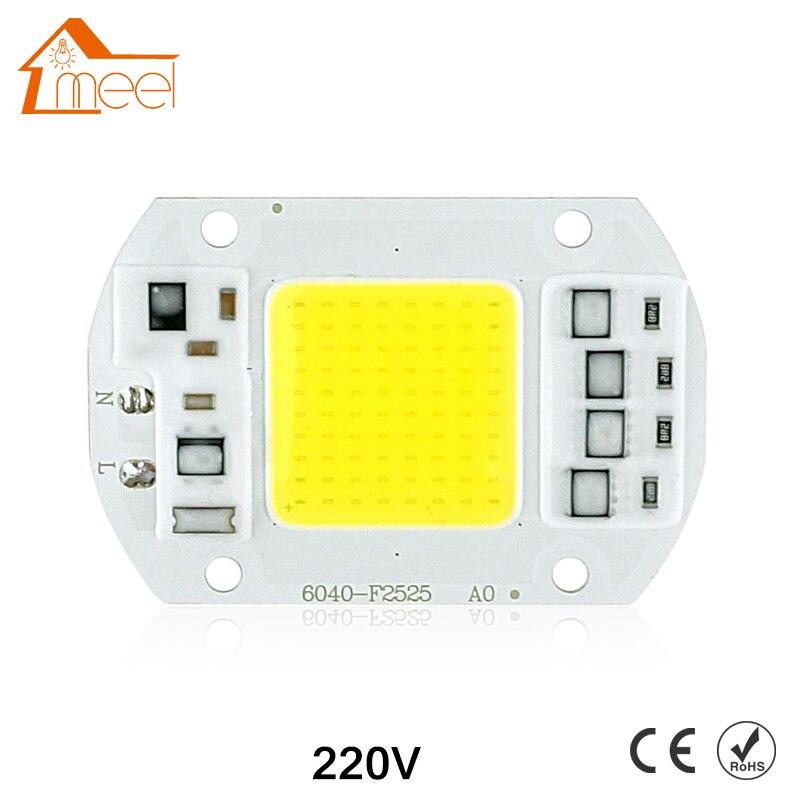 COB lampe à LED puce 10W 15W 20W 30W 50W LED COB ampoule lampe 220V IP65 Smart IC pilote froid/chaud blanc LED projecteur projecteur