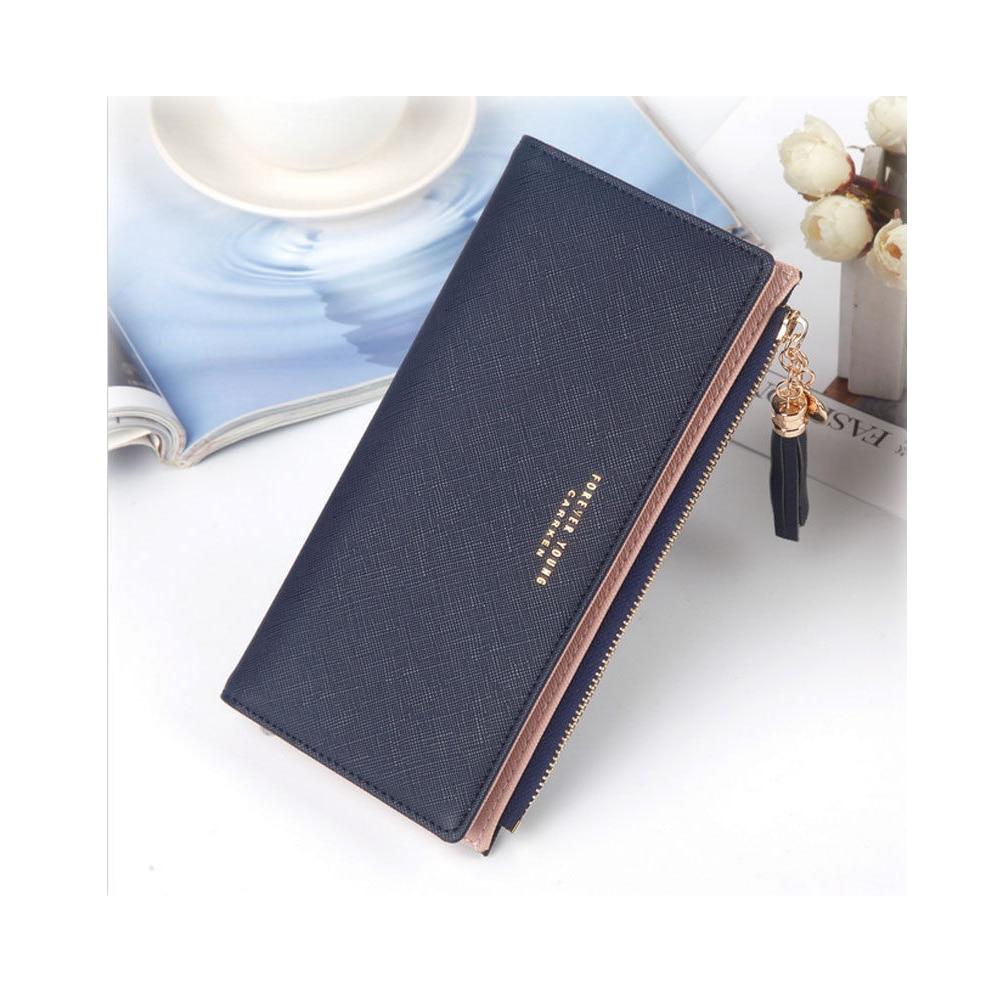 Women Ladies Wallet Long Zip Purse Card Phone Holder Case Clutch 2019 Tassel Long Cute Wallet Zipper Portefeuille Cartera Mujer
