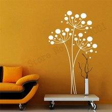 Vinyl Art Removeable Dandelion Tree Wall Decoration Beauty Fashion Room Sticker Modern Decal Livingroom Poster Mural LY551