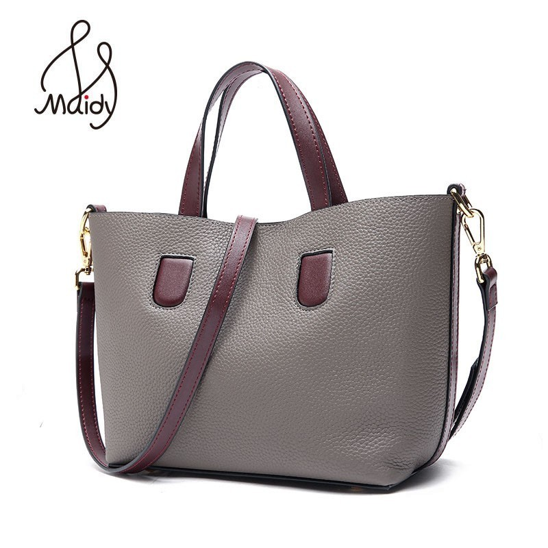 Women Casual Tote Bag Female Hand Cowhide Cow Leather Messenger Shoulder Flap Bags Crossbody Satchel Designer Handbags Maidy цена