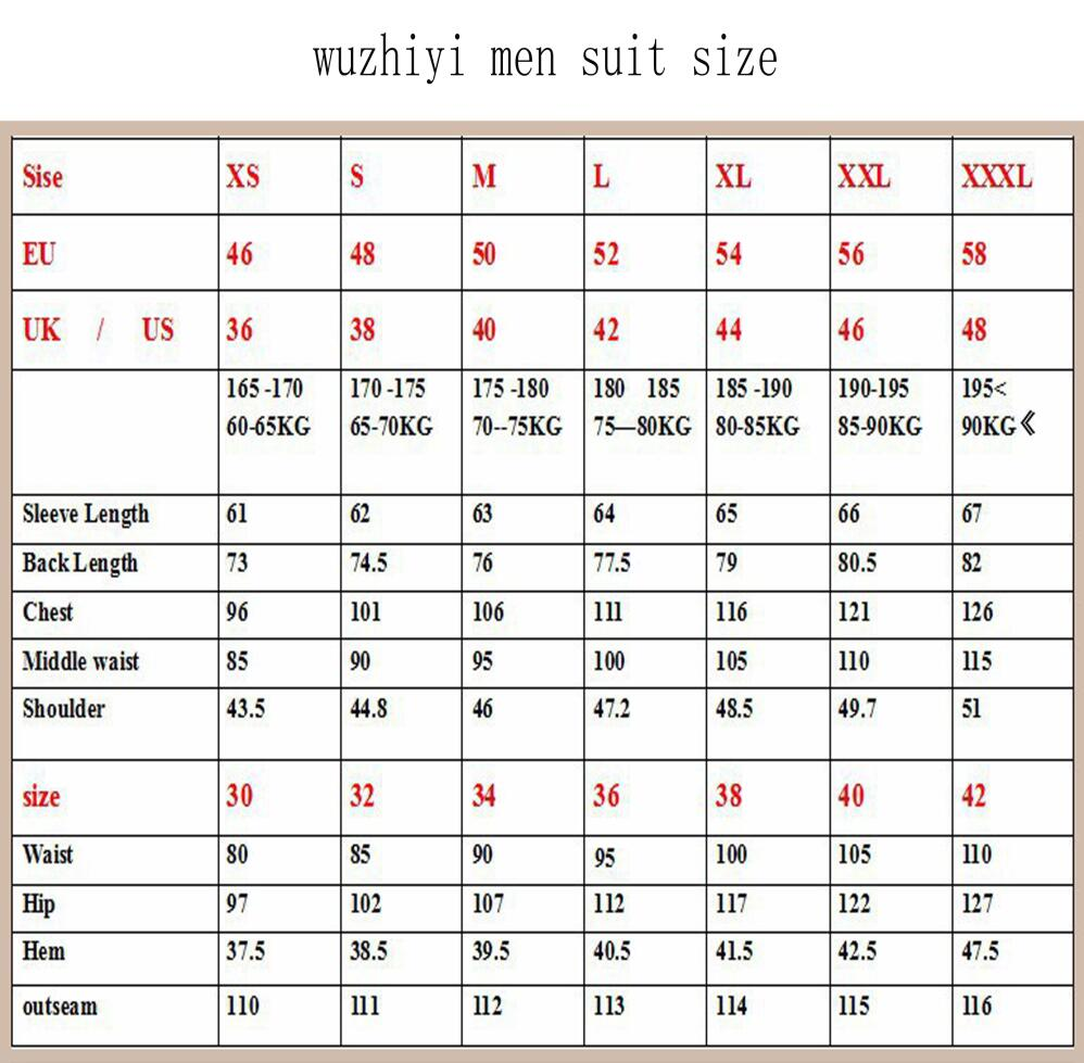 wuzhiyi latest coat pant designs Brand Men suit terno masculino tuxedo smoking masculino costume homme Slim fit suit men gowns