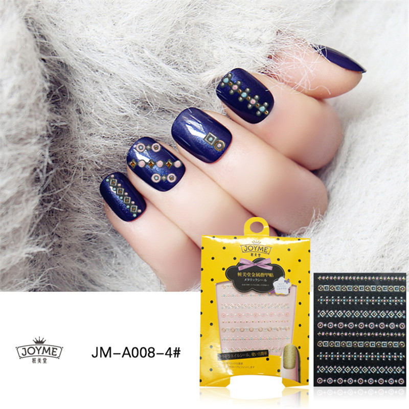Wholesale Metallic Nail Stickers Colorful Nail Decals Nail Art 3D Design Accessory Manicure Women DIY High Quality