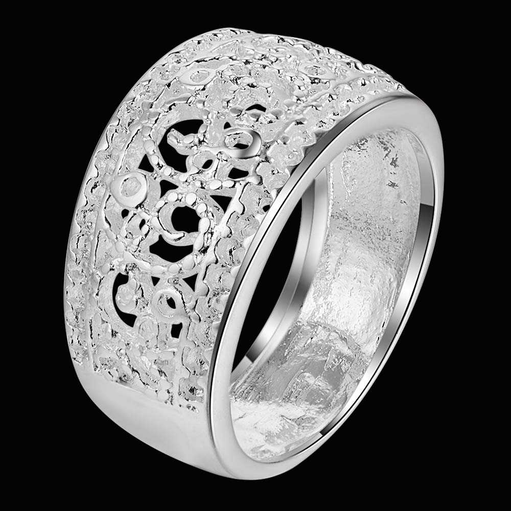 arabesquitic delicate Silver plated Ring Fashion Jewerly Ring Women&Men , /DQXLZQUP AQNPTBCV