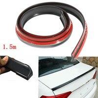 4 9ft 1 5M Universal Black Auto Car Rear Roof Trunk Spoiler Wing Lip Sticker Kit
