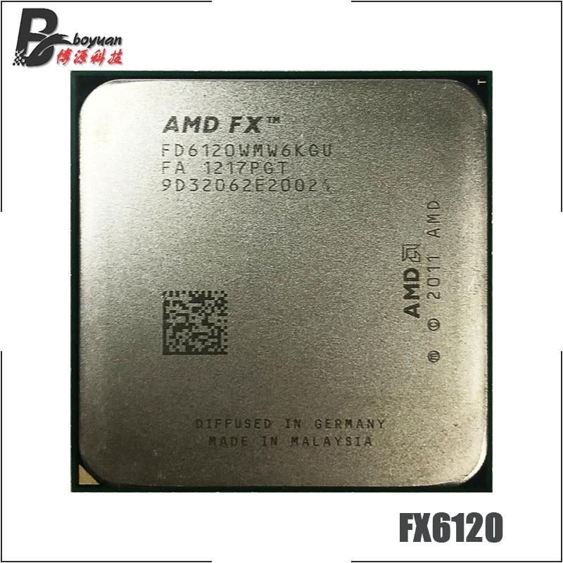 AMD FX Series FX 6120 FX 6120 3 5 GHz Six Core CPU Processor FD6120WMW6KGU Socket