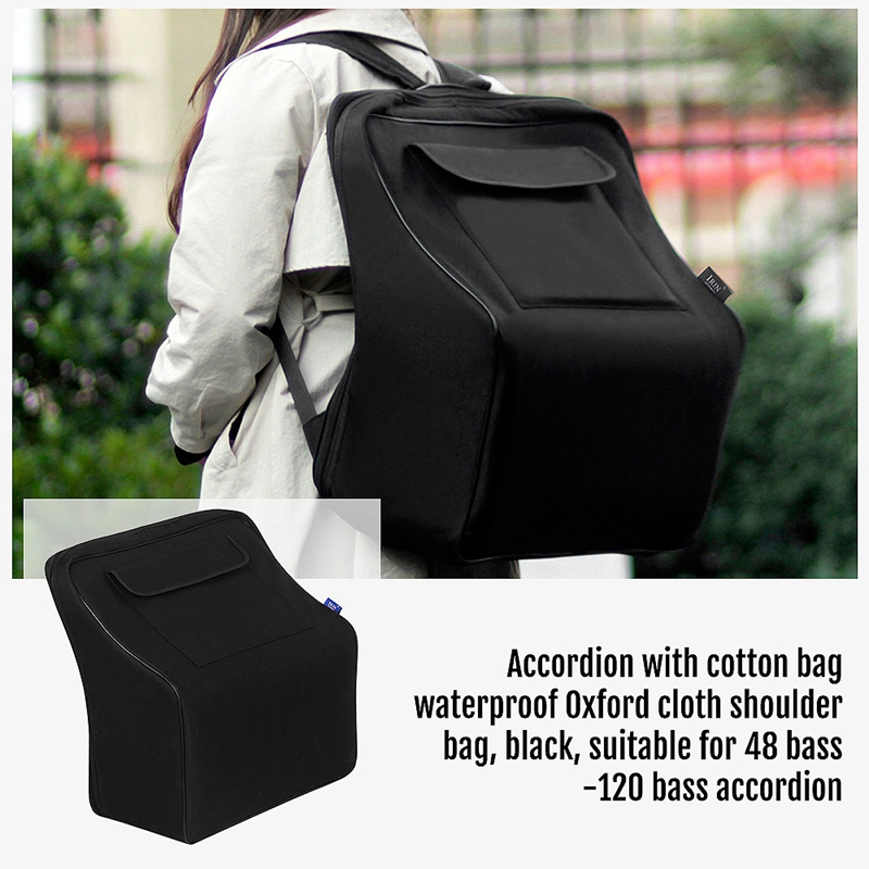 ABGZ-Irin Accordion Gig Bag Piano Accordion Case Keyboard Instrument Accessories Gig Bags For 48/80/96/120 Bass Piano Accordio