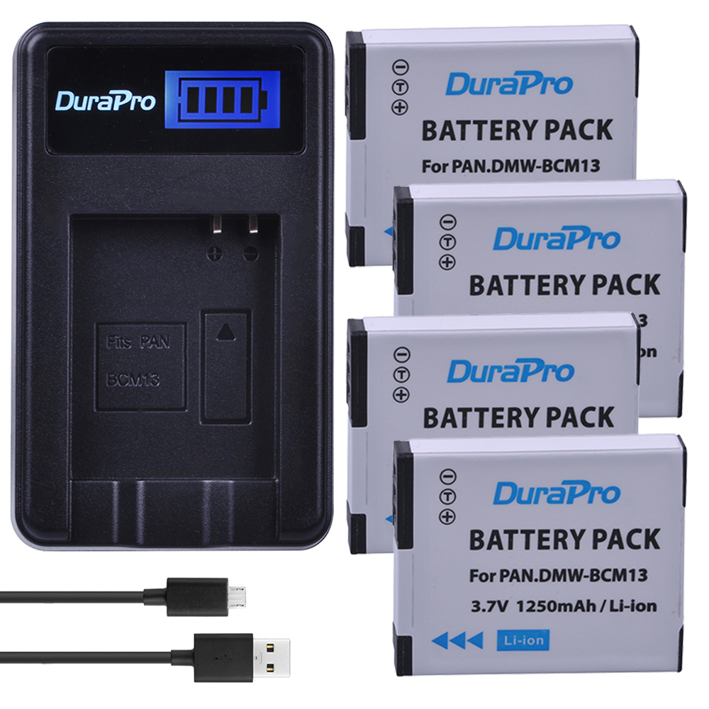 4pc DMW-BCM13 DMW BCM13 BCM13 Camera Battery+LCD USB Charger for Panasonic Lumix ZS27,ZS30,ZS35,DMC-ZS40/ZS50,FT5,LZ40,TZ41,TZ55 free shipping 95%new zs35 motherboard for panasonic lumix dmc zs35 tz55 mainboard tz55 main board camera repair part